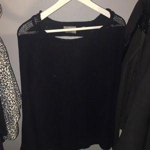 Abercrombie black Longsleeve knit with Open back